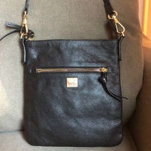 Kooba Women's Handbag Purse Black Pebbled Leather